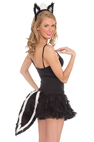 Skunk Costume Ears & Tail Set Adult One Size