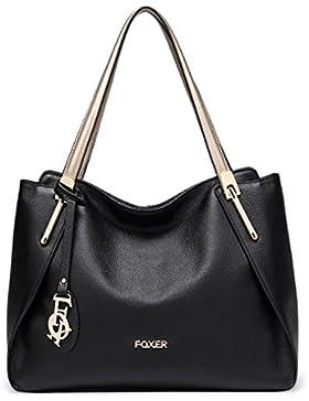 MATAGA Damenhandtasche Handtasche für Frauen Hochwertiges Leder Tragetaschen mit Reißverschlüssen Schultertaschen...