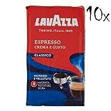 10 LAVAZZA Espresso CREMA E GUSTO Kaffee 250g gemahlen Italienisch caffè coffee