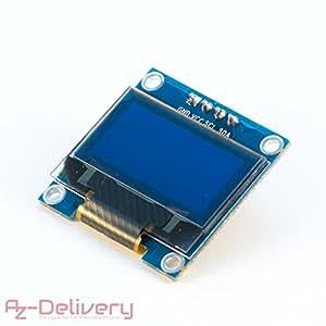 AZDelivery OLED Display 128 x 64 Pixel 0,96 pollice I2C schermo video retroilluminato per Arduino, Raspberry Pi e UNO R3 con eBook gratuito!