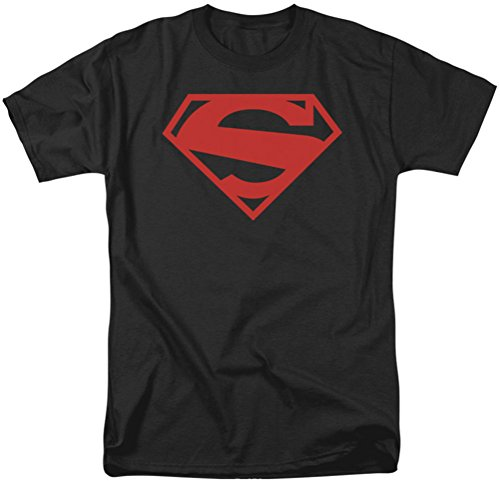 Superman - Herren 52 Red Block-T-Shirt Black