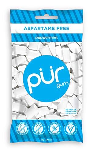 Pür Gum, Peppermint (Kaugummi) ohne Aspartam - 57 Stück - 1 Beutel