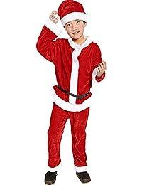 ZEZKT-Baby Jungen Weihnachtsmann Outfits Set mit Mütze Lange Ärmel T-Shirt + Hose + Hut Santa Claus Cosplay Party Kostüm Kinder Weihnachtsmannkostüm