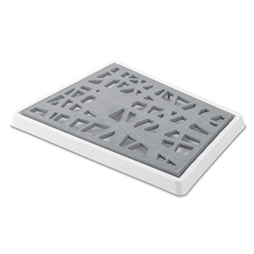 koziol Brotschneidebrett Matrix, Kunststoff, cool grey mit weiß, 27.1 x 39.7 x 2.5