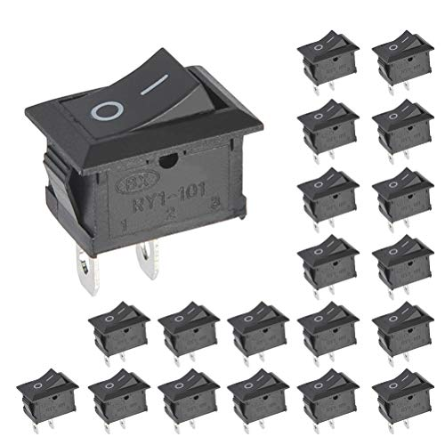 BUYGOO 20PCS Boton Interruptor Rocker KCD1-101 AC