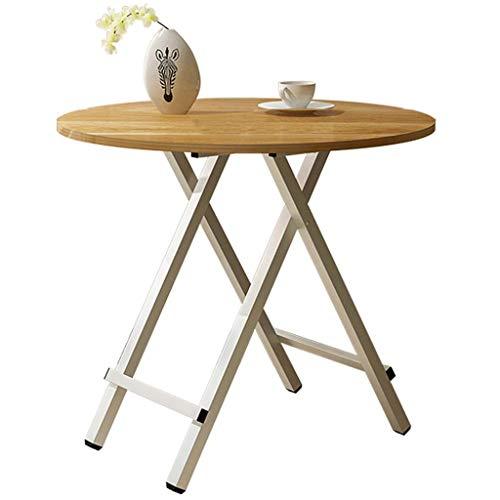 Pliage de Haute qualité Panneau Table Ronde Table carrée Table Basse Mode Maison Salon Chambre Table Basse Durable (Color : A, Taille : 80cm)