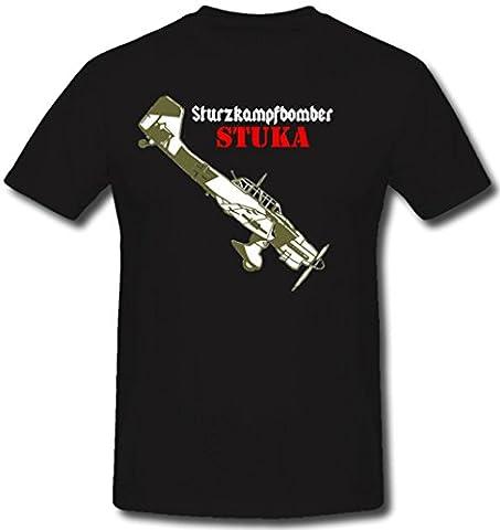 Sturzkampfbomber stuka aériennes bomber-t shirt - 1010 - Noir -