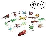TOYMYTOY Insekten und Wanzen realistische Figuren Spielzeug 17pcs - Tiermodell Witz Trick, Gag Toy