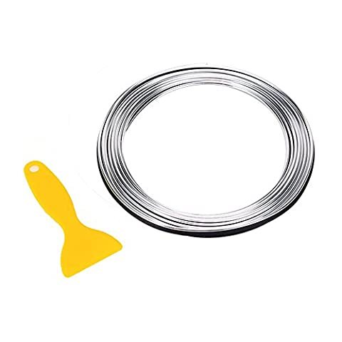 Car Chrome Trim Interior Strips -Automan 196 inches Gap Fillers Decorative Accessories DIY (Silver)