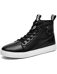 Scarpe Casual Invernali Scarpe Sportive Mens Calde Sneakers in Pelle con  Lacci alla Caviglia Comode Scarpe Sportive da… f2d41548186