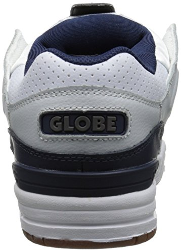 Globe Men's Fusion,Black/Night,14 D US White/Navy/Grey