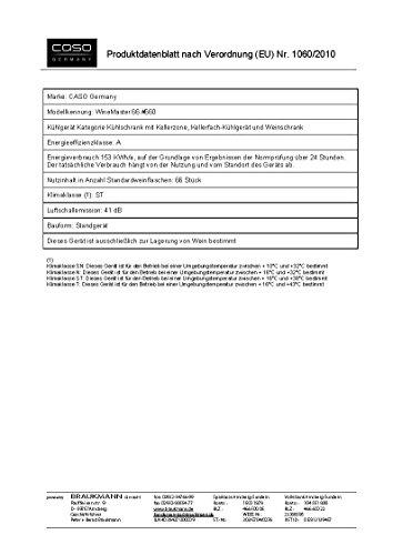 CASO-WineComfort-66-Design-Weinkhlschrank-fr-bis-zu-66-Flaschen-bis-zu-310-mm-Hhe-zwei-Temperaturzonen-5-20C-Getrnkekhlschrank-Energieklasse-A