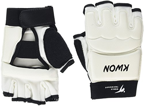Kwon Boxhandschuhe Handschutz TKD WTF, weiß, XS, 4009000