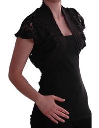 EyeCatch - Melissa Damen Stretch Spitze Bolero Cardigan Strickjacke