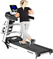 PowerMax Fitness Unisex Adult TDA-255 (2.0 Hp), Multifunction Motorized Treadmill With Auto Incline For Your D