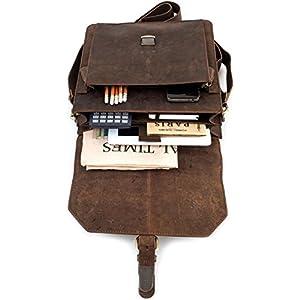 41s9FT4rj1L. SS300  - Leabags Netanya - Maletín portadocumentos (Piel de búfalo, Aspecto Vintage), Color marrón