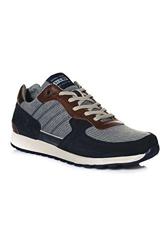 Schuhe Männer Salsa (Baskets Sneakers Salsa Jeans Modell Milwaukee Gr. 40, Blau - Blau)