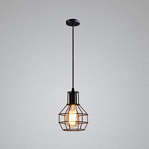 Retro industrial Pendelleuchte Hängeleuchte Deckenbeleuchtung E27 Fassung für Esstisch, Schlafzimmer,Kaffee-Bar,Leseraum Beleuchtung - Kleine Hängeleuchte