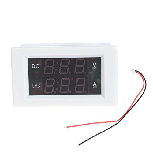 Jenor DC 100 V 20 A Dual Digital Voltmeter Amp Tester Messgerät rot + grüne LED -