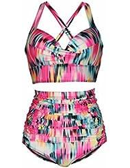 traje de baño del bikini de la cintura mujer gorda dividida de gran tamaño , suit , xxxxl