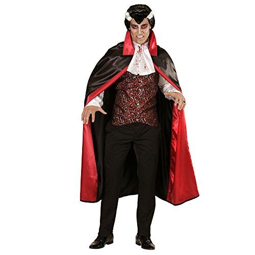 chsenenkostüm Vampir, Shirt mit Weste mit Jabot und Umhang, Größe L (Dracula Kostüm Muster)