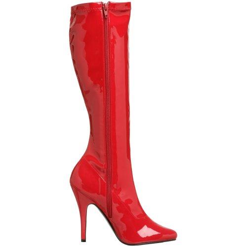 Pleaser - SEDUCE-2000, stivali da donna Rosso (Red Str Pat)