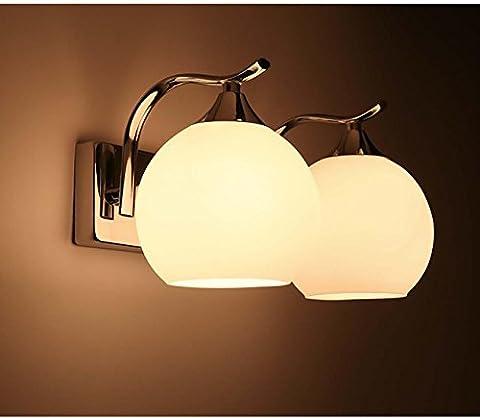 Modern simple European design LED ball hotel bedroom bedside lamp mirror front corridor wall lamp , 5