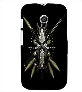 Printdhaba Arms D-2031 Back Case Cover For Motorola Moto E