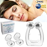 Dolphor Premium Schnarchstopper, Schnarchschutz Neuartige Nasenklammer gegen Schnarchen, Anti Schnarch Hilfe, Nasenspreizer mit Magnet aus Medizinisches Material für natürlichen komfortablen Schlaf