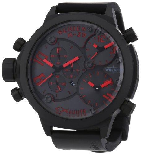 Welder - K29 8002 - Montre Mixte - Quartz Chronographe - Bracelet Caoutchouc Noir