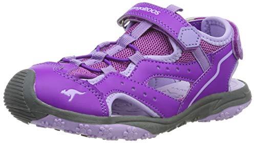 KangaROOS Unisex-Kinder K-Cali Geschlossene Sandalen, Rot (Purple/Powder Purple 6131), 39 EU
