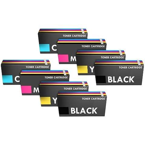 Prestige Cartridge C430/C480 - Pack de 8 cartuchos de tóner láser para Samsung Xpress SL-C430W/SL-C480W/SL-C480FN, tricolor y