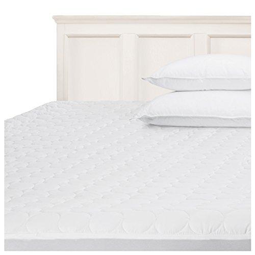 Pillow-top-king-size-matratze (Superior Matte Pad QT kg Gesteppte Matratze Pad Displayschutzfolie, King, weiß, King Size)