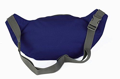 Gürteltasche von Move Yourself | Praktische Bauchtasche mit 2 Fächern | Ideale Hüfttasche für den täglichen Gebrauch, für den Sport oder zum Reisen | 5 tolle Farben: Blau, Lila, Orange, Rot, Schwarz | Blau