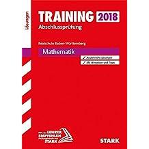 Training Abschlussprüfung Realschule Baden-Württemberg - Mathematik Lösungen