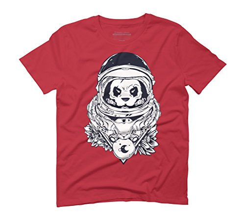 Panda Men's Graphic T-Shirt - Design By Humans Red