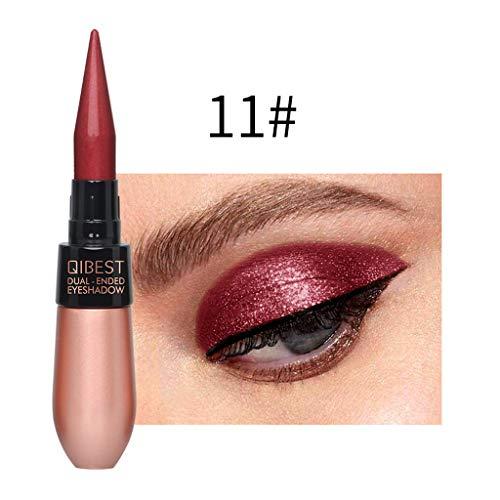 6 Farben Multifunktional Wasserdichte Eyeliner Liquid Lidschatten Double Ended Anhaltende Make Up Eyes Tool (6 Farben, Mehrfarbig 11#)