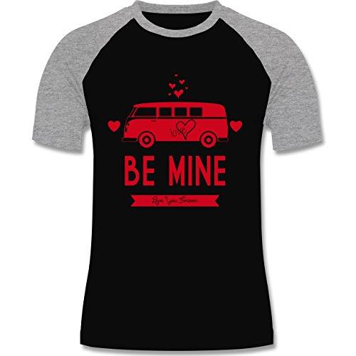 Shirtracer Statement Shirts - Love Me Mine Bus T1 - Herren Baseball Shirt  Schwarz/Grau