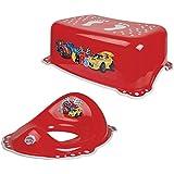 Supreme–Coches Rojo para inodoro formación asiento taburete + 2pcs Set