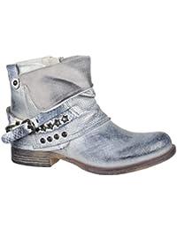 more photos 17134 0f905 Suchergebnis auf Amazon.de für: flache stiefel - Silber ...