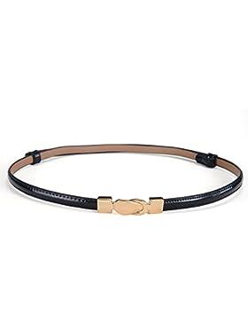 Señoras Decoración Cinturón,Distribución Vestido Salvaje Imprimir Cuero Simple Estrecho Cinturón