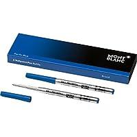 Montblanc 116214 Recambio de punta gruesa para esferógrafo Pacific Blue – Minas para bolígrafo de alta calidad y color intenso, 1 paquete x 2 Recambios