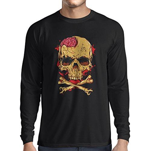 Camiseta de manga larga La calavera (XX-Large Negro Multicolor)