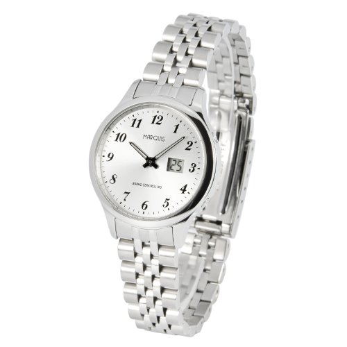 MARQUIS Damen Funkuhr, Gehäuse und Armband aus Edelstahl, Armbanduhr, Junghans-Uhrwerk 964.4780