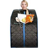 Sauna Infrarouge et Portable SereneLife   Spa à Domicile pour une Personne   Idéal pour la Désintoxication et la Perte de Poids (Noir)