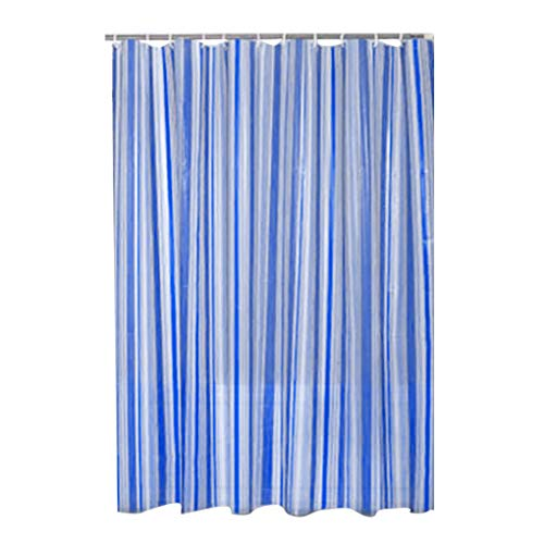 Fornateu Vertikale gestreifte PEVA Badezimmer-Vorhang Wasserdicht Mouldproof Badvorhang -