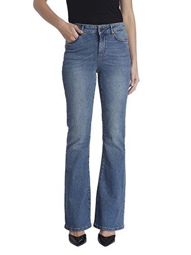 VERO MODA Damen Schlag Jeanshose VMSALLY NW FLARE JEANS BA996, Gr. W26/L32 (Herstellergröße: 26), Blau (Medium Blue Denim) (Bootleg Mode)