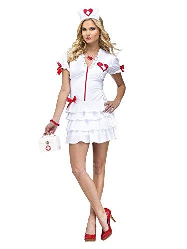 Sexy Krankenschwester Damenkostüm weiss rot M/L