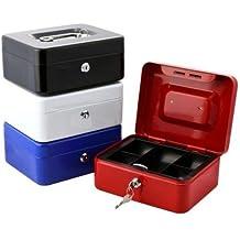 takestop® Kassette von Sicherheit 602Box Eisen-Münzen Werte Geldbörse Geld Schublade 125x 95x 60mm Farbe zufällige