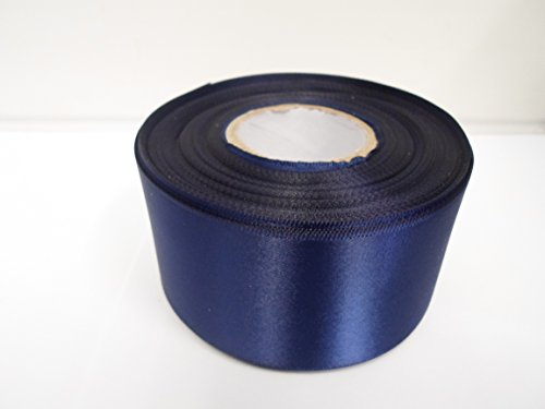 2-metres-of-50mm-2-satin-ribbon-navy-dark-blue-double-sided-wedding-favours-decorative-easter-christ